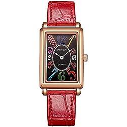 Women's square watch/Quartz watches waterproof watch/ vintage casual watch-B