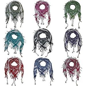 Superfreak Palituch – Grundfarbe weiß – 10+ Farben – Pali Palästinenser Arafat Tuch – 100% Baumwolle