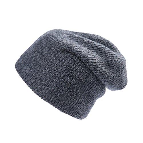 b7640958 RIONA Women's 100% Australian Merino Wool Solid Knit Beanie Hat Warm Skull Caps  Headwear (