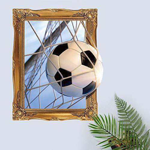 Falsche Fenster 3D Ergebnis Ein Ziel Fußball Wandaufkleber Wohnzimmer Hintergrund Sport Home Decoration Wandaufkleber Aufkleber Tapete -