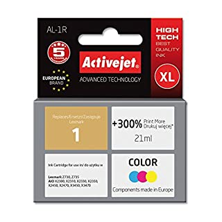 ActiveJet EXPACJALE0028 AL - 1R Ink Refill for Lexmark No. 1, photo-Coloured