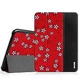 Fintie Hülle für Samsung Galaxy Tab 4 10.1 SM-T530 SM-T535 - Ultra Schlank Superleicht Ständer SlimShell Cover Schutzhülle Etui Tasche mit Auto Schlaf/Wach Funktion, FleurRouge Test