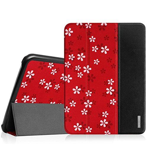 galaxy tab t530 Fintie Hülle für Samsung Galaxy Tab 4 10.1 SM-T530 SM-T535 - Ultra Schlank Superleicht Ständer SlimShell Cover Schutzhülle Etui Tasche mit Auto Schlaf/Wach Funktion, FleurRouge