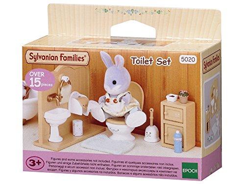 Sylvanian Families 5020 Toiletten Set und Accessories, 10,3 x 3,4 x 8 cm