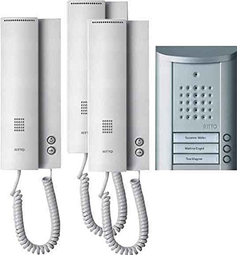 RITTO 1841320 ENTRAVOX - PORTERO AUTOMATICO COMPLETO (3 TELEFONILLOS)  COLOR PLATEADO