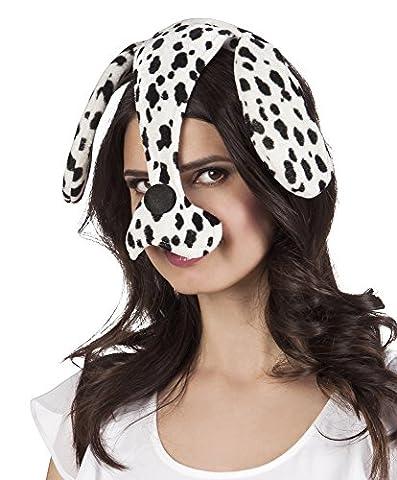 Fancy Ole - Hut Kopfbedeckung Hund Kostüm Dalmatiner, Weiß