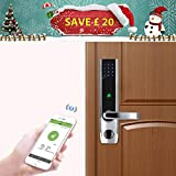 ZKTeco Elektronisches Fingerabdruck Türschloss Automatischer Türöffner mit Bluetooth Biometric Fingerprint Door Lock 5pcs RFID Karten Linkshändig