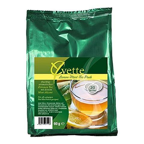 Yvette Lemon-Menta Teepads, Teebeutel, Schwarzer Tee, passend für Senseo, 20 Pads
