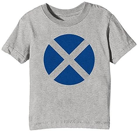 Écosse nationale Drapeau Enfants Unisexe Garçon Filles T-shirt Cou D'équipage Gris Manches Courtes Taille M Kids Unisex Boys Girls Grey Medium Size M