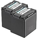 2x Minadax® qualitaets Batterie avec véritable 1900mAh pour Panasonic VDR-D160EB-S D100D150d160D220D250D300D310M30M50M53M55M70M75M95, comme CGA CGR-DU21–Système de batterie intelligent avec puce