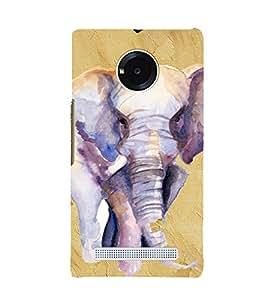 PrintVisa Elephant Art Design 3D Hard Polycarbonate Designer Back Case Cover for YU Yuphoria