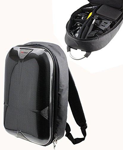 Navitech grau Handlung Kameratasche / Rucksack / Reisekoffer für die Nilox Evo 4K+ Action Camera