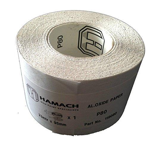 Preisvergleich Produktbild Hamach (119080) Dynamic Schleifpapier-Rolle 95 mm x 23m - P80