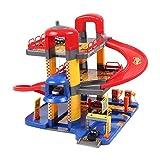 ACEHE Parkgarage Parkhaus mit 3 Ebenen Autogarage Autos Spielzeug Tankstelle Garage
