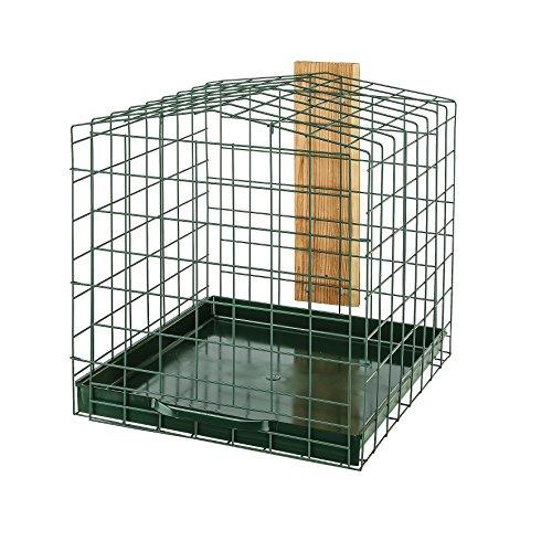 Ferplast 53140523 Futterplatz Refuge Small, geschützter Futterplatz, Maße: 32.5 x 34 x 33.5 cm, grün