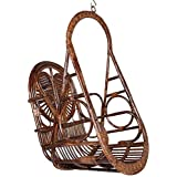 IRA Rattan Swing Chair With Patterned Heart