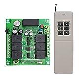 Lejin 6 Kanal 230VAC Funk-Empfänger Funkfernsteuerung kabellose Fernbedienung Funksteuerung Garagentore Controller 10A 433MHz Hoch Reichweite bis 500M imfreifeld