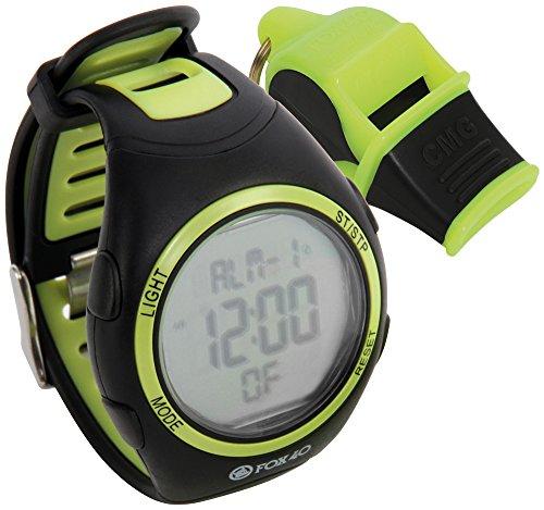 Fox 40arbitro di calcio di rugby di Whistle & orologio combinazione kit set