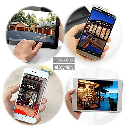 Wansview Außenbereich WiFi Drahtlos IP Sicherheit Kamera, IP66 Wasserdicht, 5 hoch Leistung IR LEDs eingebaut 8GB Mikro-SD Karte W1 -
