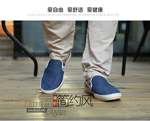 Herren slipper Leicht Sneakers Flache Schuhe Anti-Rutsch Spaziergang Schuhe Himmelblau