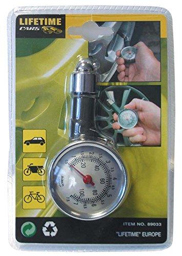Reifendruckprüfer Metall Luftdruck Prüfer Druckanzeige Reifenluftdruck Auto PKW LKW Fahrrad Motorrad Reifen