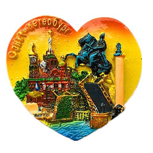 lood Kathedrale Brave Knights Palace Bridge Russland 3D Kühlschrank Kühlschrankmagnet Travel Souvenir Collection White Board Sticker ()