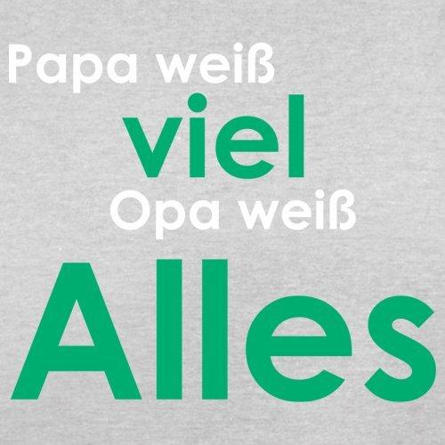 Papa weiß viel, Opa weiß alles ! - Herren T-Shirt - 13 Farben Hellgrau