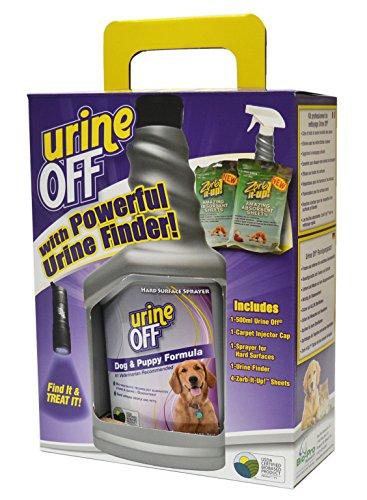 Combo Kit Urine Off für Hunde inklusive Urine Finder Schwarzlicht und 2x2 extrem saugfähige Tücher zur Urine Beseitigung