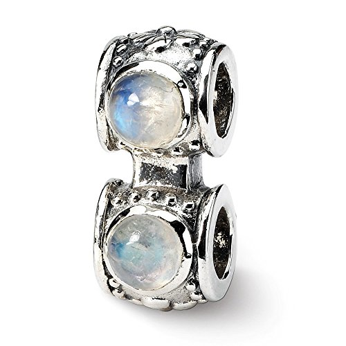 Sterling Silver Reflections Moonstone Connector Bead -