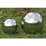 Dekokugel Mix 18cm und 13cm Gartenkugel Edelstahl Silber Kugel Garten Teich