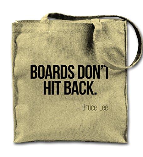 Bords Don't Kick Back Motivation Bruce Lee Zitat Natürliche Leinwand Tote Tragetasche, Tuch Einkaufen Umhängetasche (Dont Kick)