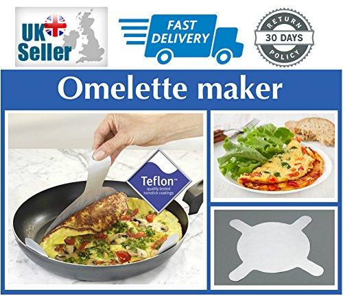 2Stück antihaftbeschichtet Omelette Pfannkuchen Crepes Teflon Bratpfanne Folie Schöpfern Liners) Dunkelviolett
