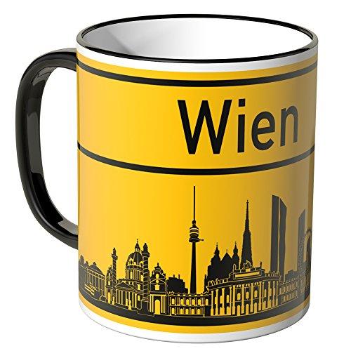 Wandkings® Tasse, Skyline Wien - SCHWARZ