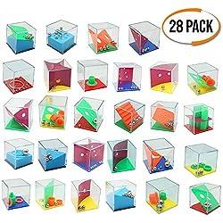 The Twiddlers Mini Juegos Rompecabezas - Set de 28 Puzzles - Juegos con Niveles Diferentes - Perfectos para Regalos de Fiesta - Detalles Sorpresa - para Adultos o Niños