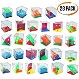 THE TWIDDLERS Set di 28 Mini Puzzle Box con Livelli Assortiti. Perfetti Come regalini per Borse da Festa. Rompicapo Giochi Adatto per Adulti e Bambini