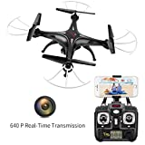 Syma X5SW RC 2.4G 6-Axis FPV Quadcopter Drone Helicopter Headless With HD Camera IOS&Android Sync Real Time Video Black