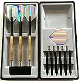 Personalisierter Messing Darts Geschenk Set mit Silber Flights