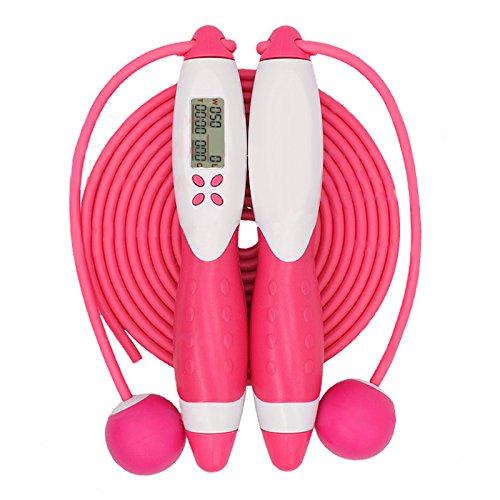 elegantstunning wireless intellectuel elettronica corda per saltare, per esercizio di sport, blu, rosa