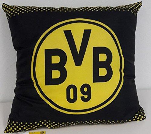 "BVB Borussia Dortmund Kissen "" Logo "" schwarz"
