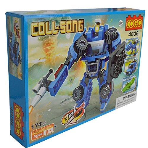 Transformer Roboter Jeep Beast Modus Bricks verändert Bausteine Spielzeug–174Stück (Essbare Gun)