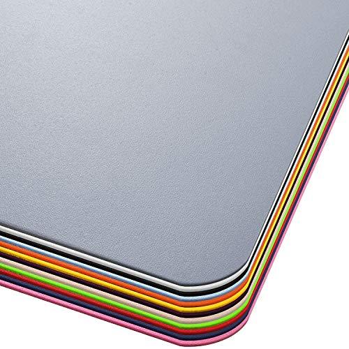 Office Marshal® Bodenschutzmatte in Trendfarben | 90 x 120 cm für Hartböden | ohne schädliche Weichmacher und PVC | Größe und viele Farben zur Auswahl (Grau)