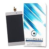 Visiodirect Ecran complet pour Wiko Fever 4G blanc 5.2' téléphone portable vitre...