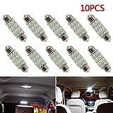10 Stück 42 mm LED-Auto-Birne 16smd Auto-Innenhaube-Licht-Weißes Fracht-Licht Führte Girlanden-Kfz-Kennzeichen-Licht DC 12V