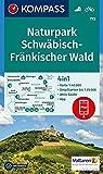Naturpark Schwäbisch-Fränkischer Wald: 4in1 Wanderkarte 1:40000 mit Aktiv Guide und Detailkarten inklusive Karte zur offline Verwendung in der ... 1:50 000 (KOMPASS-Wanderkarten, Band 773)