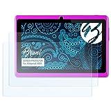 Bruni Schutzfolie für Alldaymall A88X Folie - 2 x glasklare Displayschutzfolie