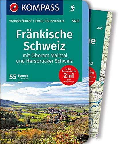 KOMPASS Wanderführer Fränkische Schweiz mit Oberem Maintal und Hersbrucker Schweiz: Wanderführer mit Extra-Tourenkarte 1:65.000, 55 Touren, GPX-Daten zum Download.