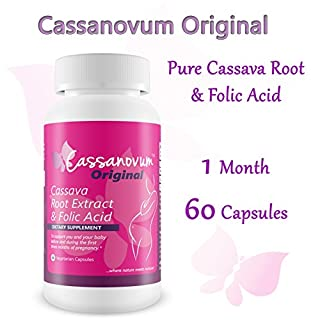 CASSANOVUM Original: Cassava Root Supplement & Folic Acid, Fertility Supplement for Women - Healthy Pregnancy Preparation and Increasing the chances of conceiving faster (Cassava Root Concentrated Extract)
