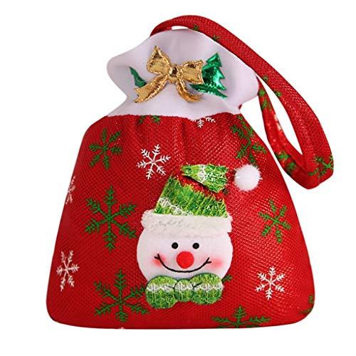 Feytuo Bag Kinder Weihnachtsrote Schneemann-Süßigkeitstasche des Filztuches des Alten Mannes Weihnachtskindergeschenk-Geschenkbeuteldekoration