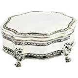 Silver Plated Antique Trinket Box Small With Feet Box New & Boxed