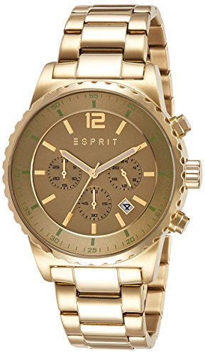 ESPRIT Uhr Theon Gold Chrono Date Men Quartz Watch Fashion Watch ES108231002
